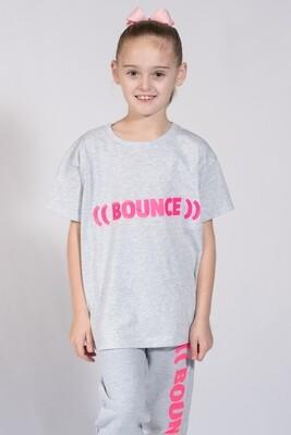 Kids T-Shirt - Grey & Pink