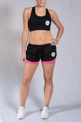 Shorts - Black & Pink