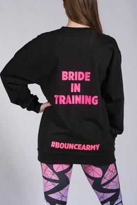 Sweatshirt, Bride in Training - Black & Pink