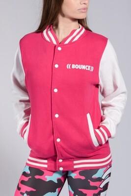 Varsity Jacket - Pink & White