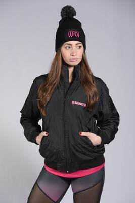 Winter Jacket, Unisex - Black & Pink