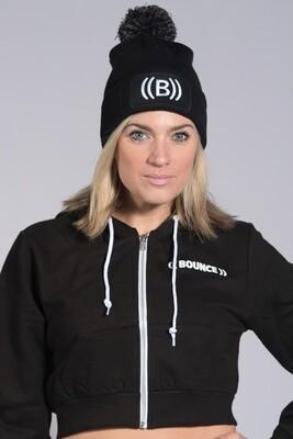 Snowstar Bobble Hat  - Black & White