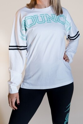 College Top - White & Mint