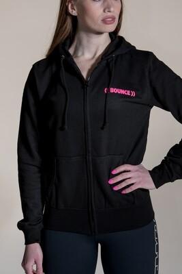 Zip Hoodie - Black & Pink