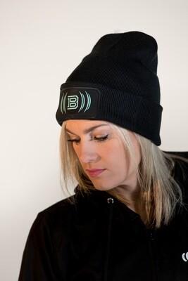 Beanie Hat - Black & Mint