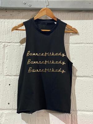 Vest, High Neck - Black & Gold