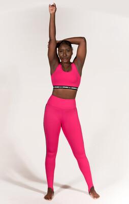 Leggings -  Pink Stirrup