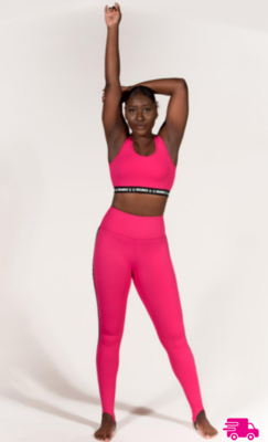 Leggings -  Pink Stirrup