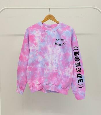 KIDS: Ratchet Sweatshirt Tracksuit - Pink Tie Dye