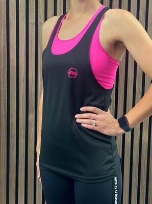 ((B))asics: Loose Sports Vest, Unisex - Black