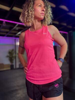 ((B))asics: Sports Vest, Ladies - Pink & White