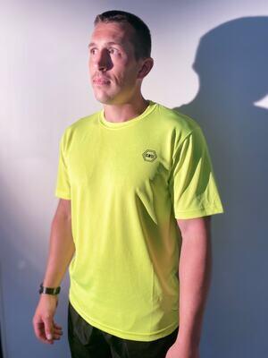 ((B))asics: T-Shirt, Unisex - Neon Yellow & Black