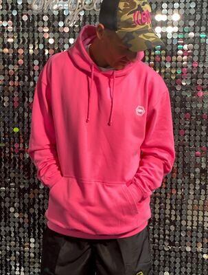((B))asics: Hoodie, Unisex - Pink & White