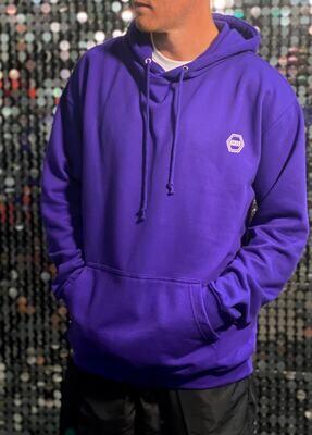 ((B))asics: Hoodie, Unisex - Purple & White