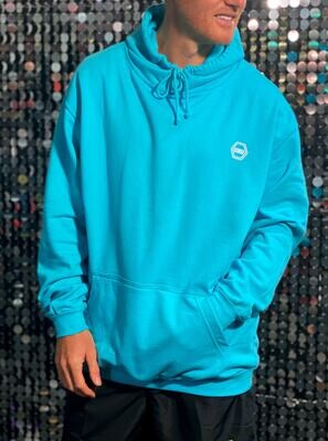 ((B))asics: Hoodie, Unisex - Turquoise & White