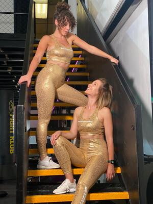 Leggings - Gold Cheetah
