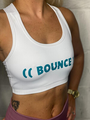 Crop Top - White & Turquoise