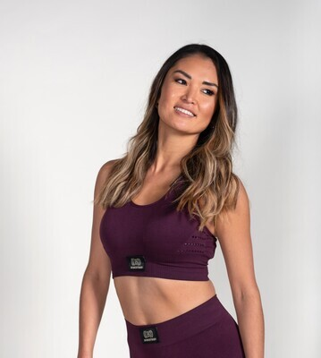 Seamless Crop Top - Mulberry
