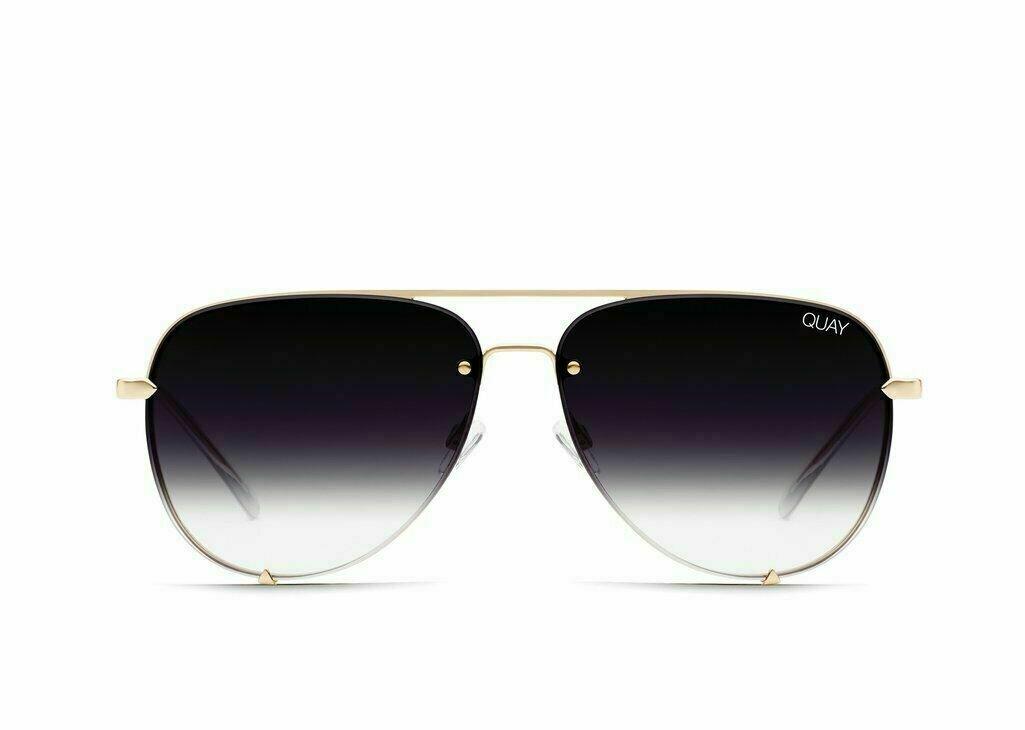 QUAY® AUSTRALIA HIGH KEY MINI Designer Sunglasses | Black Gold