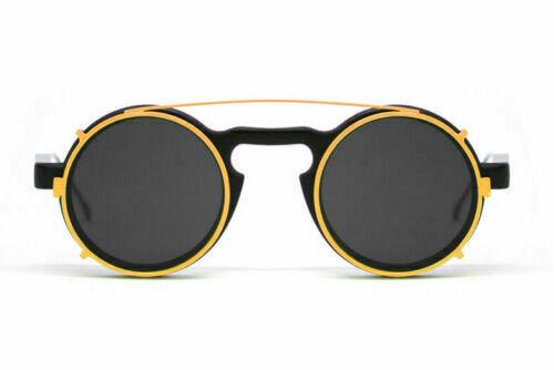 NEW SPITFIRE SUNGLASSES LENNON 5 - Matte Black - Yellow/Black