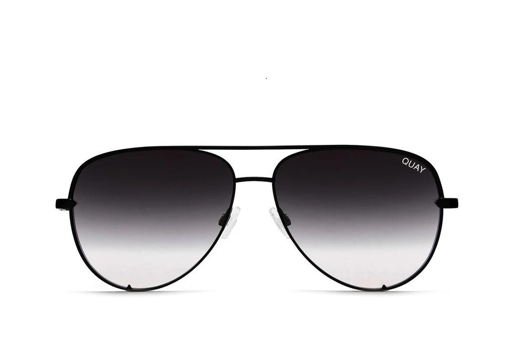 QUAY® AUSTRALIA HIGH KEY MINI Aviator Sunglasses   Black Fade