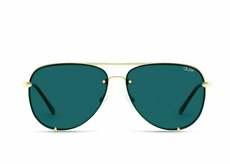 NEW QUAY HIGH KEY GOLD TEAL RIMLESS
