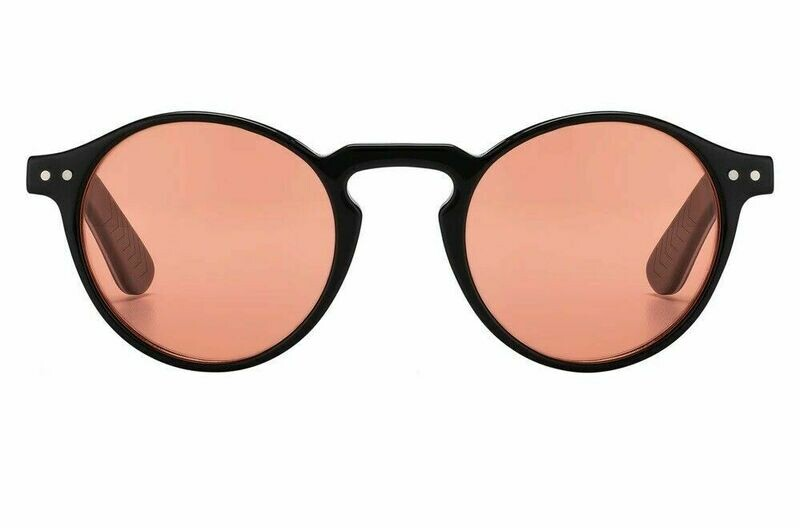 NEW SPITFIRE UK CUT EIGHT BLACK / PINK LENS RENEWABLE HAND POLISHED