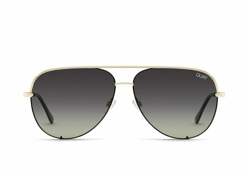 QUAY® HIGH KEY CONTRAST Polarized Sunglasses   Gold Black