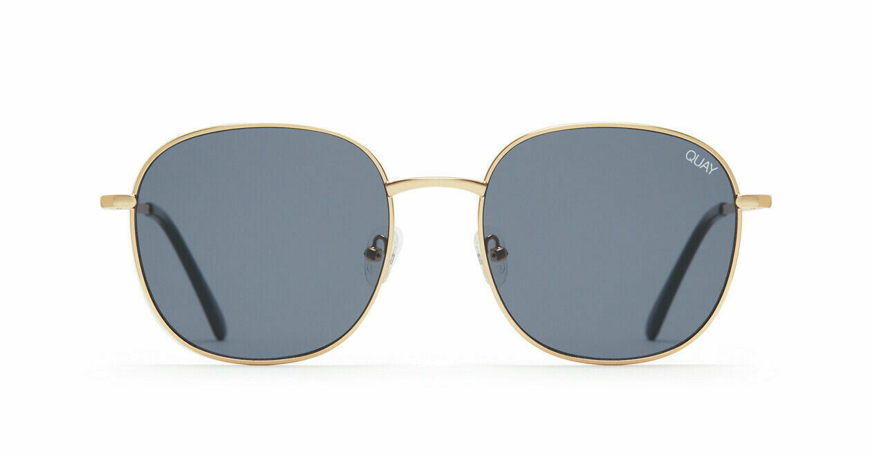 NEW QUAY JEZABELL SUNGLASSES GOLD METAL WITH BLK LENS