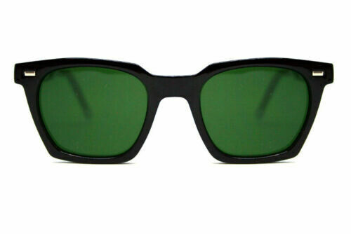 NEW SPITFIRE SUNGLASSES BLOCK CHAIN -Black /Green Lens