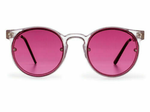 NEW SPITFIRE SUNGLASSES POST PUNK - Clear/Maroon