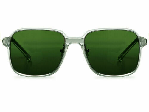 NEW SPITFIRE 80's STYLE SUNGLASSES BTA_CLEAR/GREEN LENS