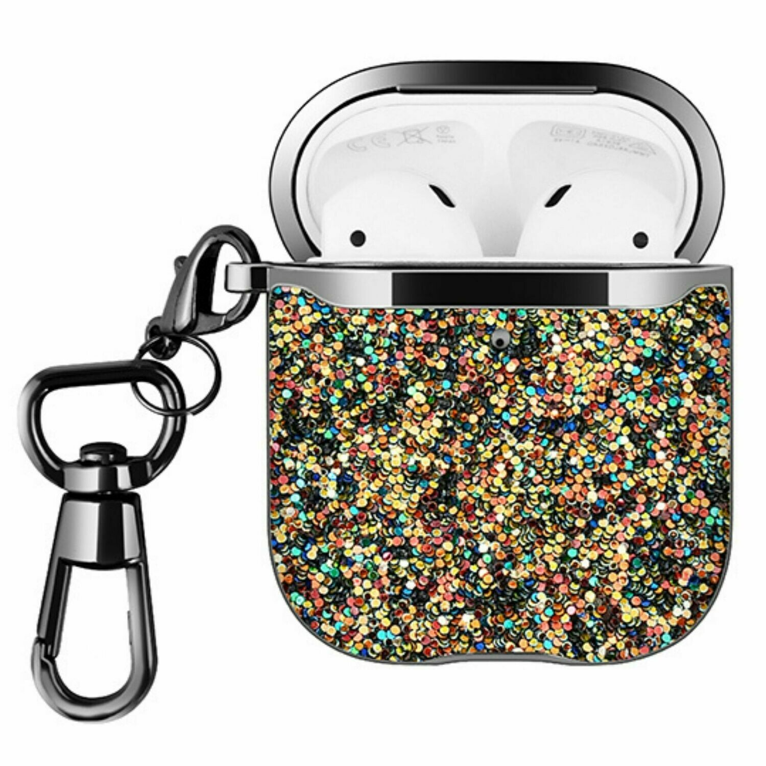 For Apple Airpods 1 2 Hard Case Cover Superior Quality Rhinestone Design TPU Protective | Shock Proof (Mixed Dazzle)