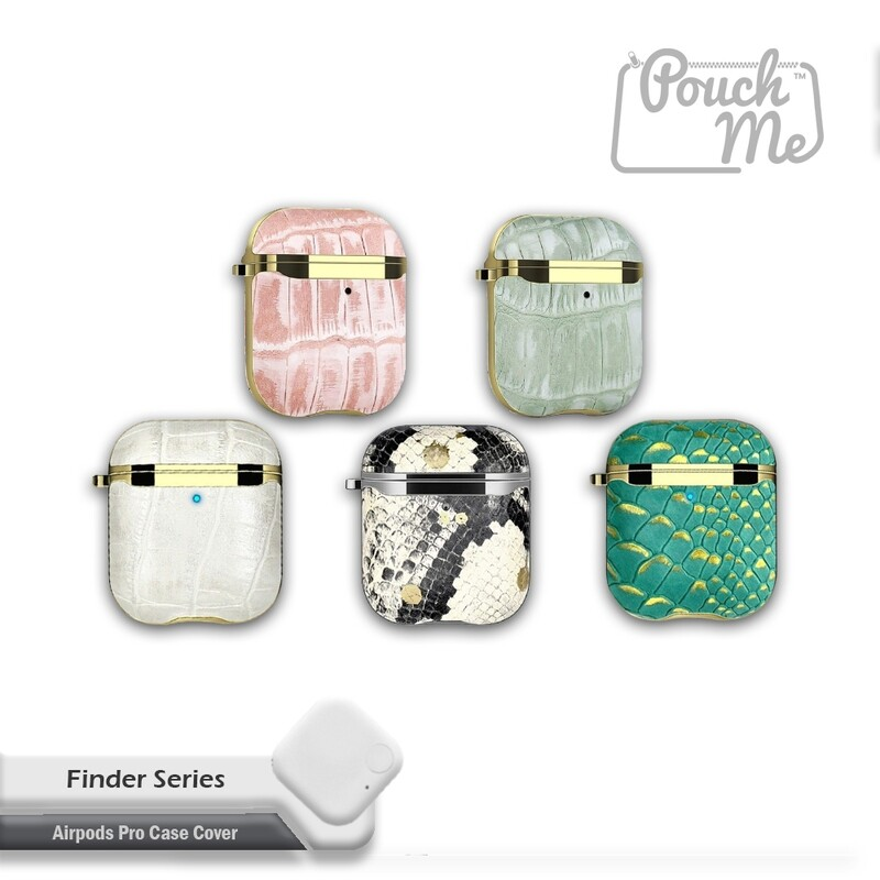 POUCH ME® Leather Case Cover For Airpods Gen 1 2 Finder Series