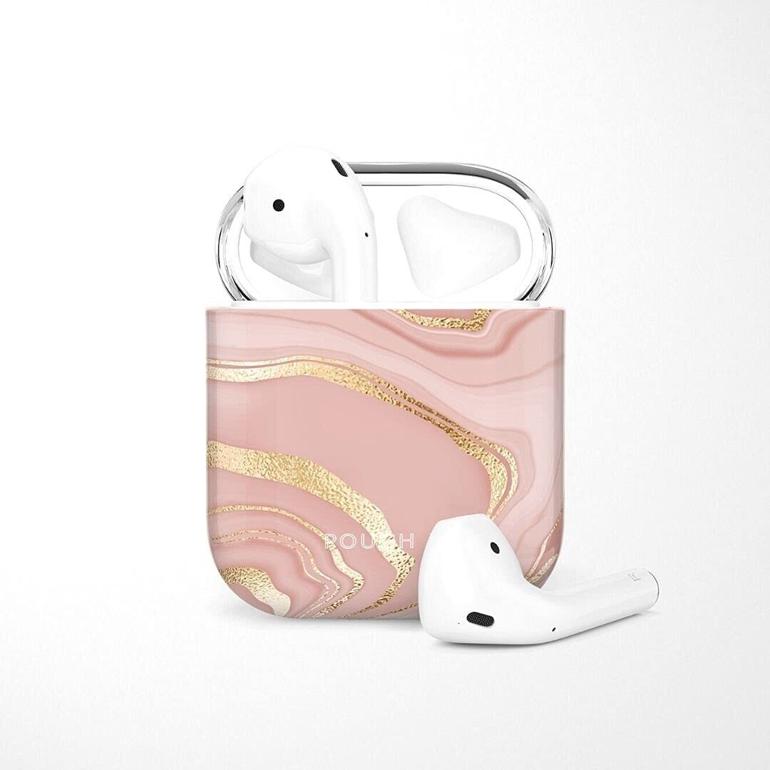 POUCH ME® Case Cover For Airpods 1 2 Finder Series Gold Pinkcess