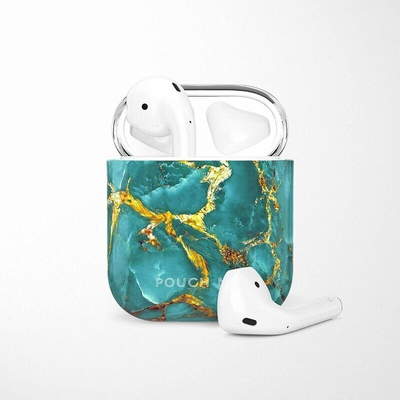 POUCH ME® Case Cover For Airpods 1 2 Finder Series Golden Ocean