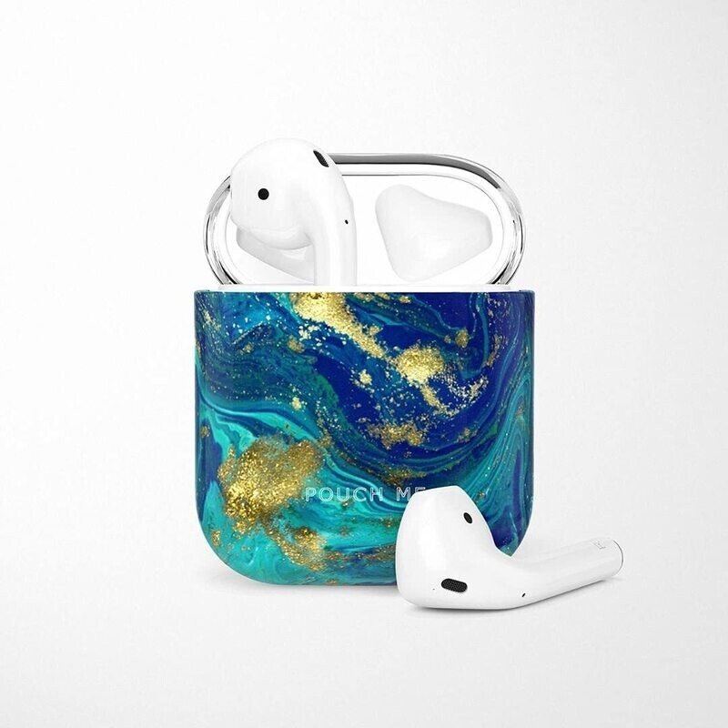 POUCH ME® Case Cover For Airpods 1 2 Finder Series Gold Island