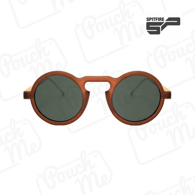 SPITFIRE® UK LENNON 5 Designer Sunglasses   Matte Brown Black