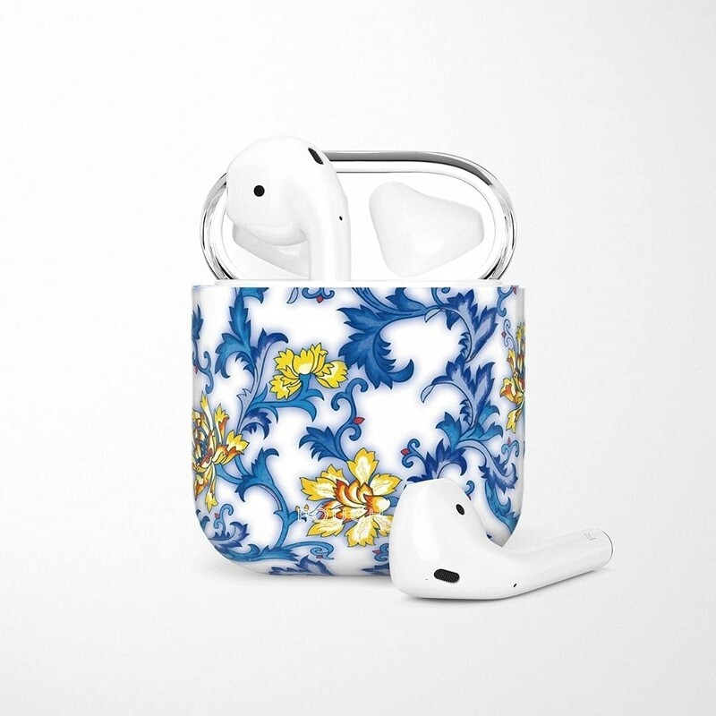 POUCH ME® Case Cover For Airpods 1 2 Finder Series Blue Flame