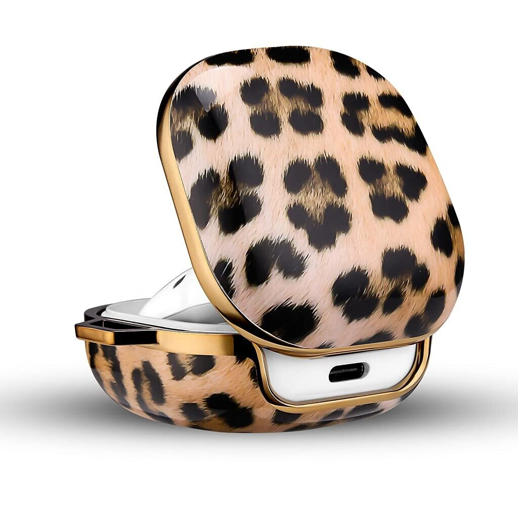 Pouch Me® Galaxy Buds Live & Pro Case Cover Marble   Leopard
