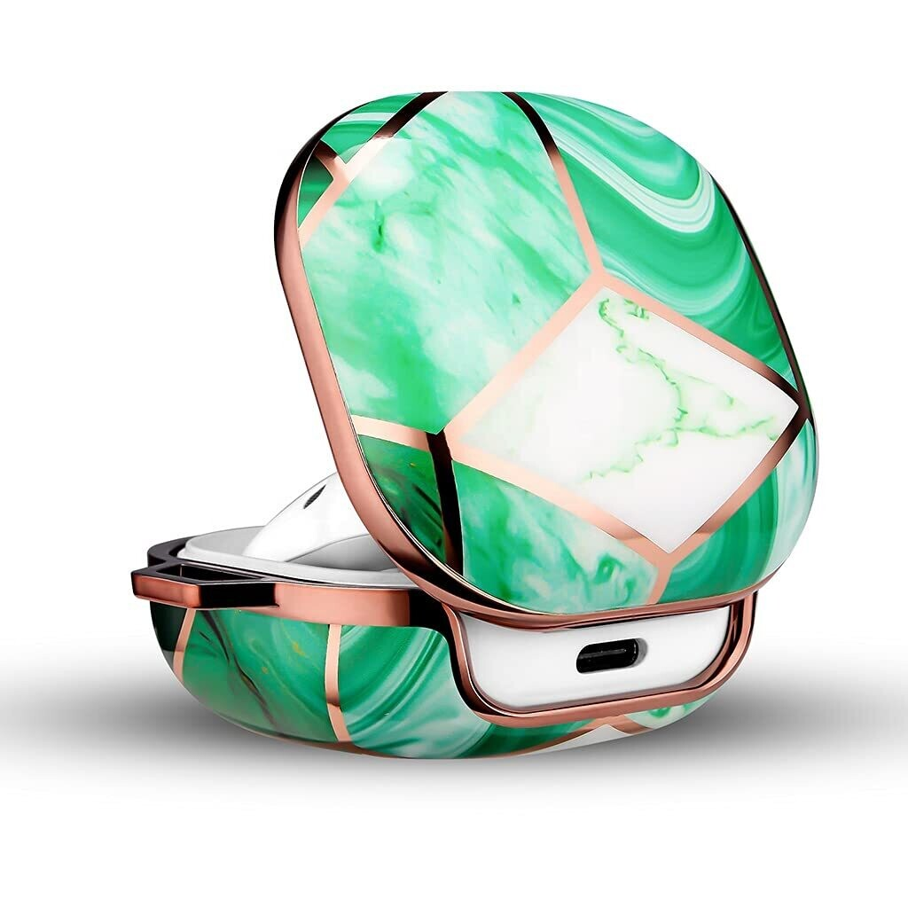 POUCH ME® Case Cover for Galaxy Buds Live/Pro | Mint Green Marble