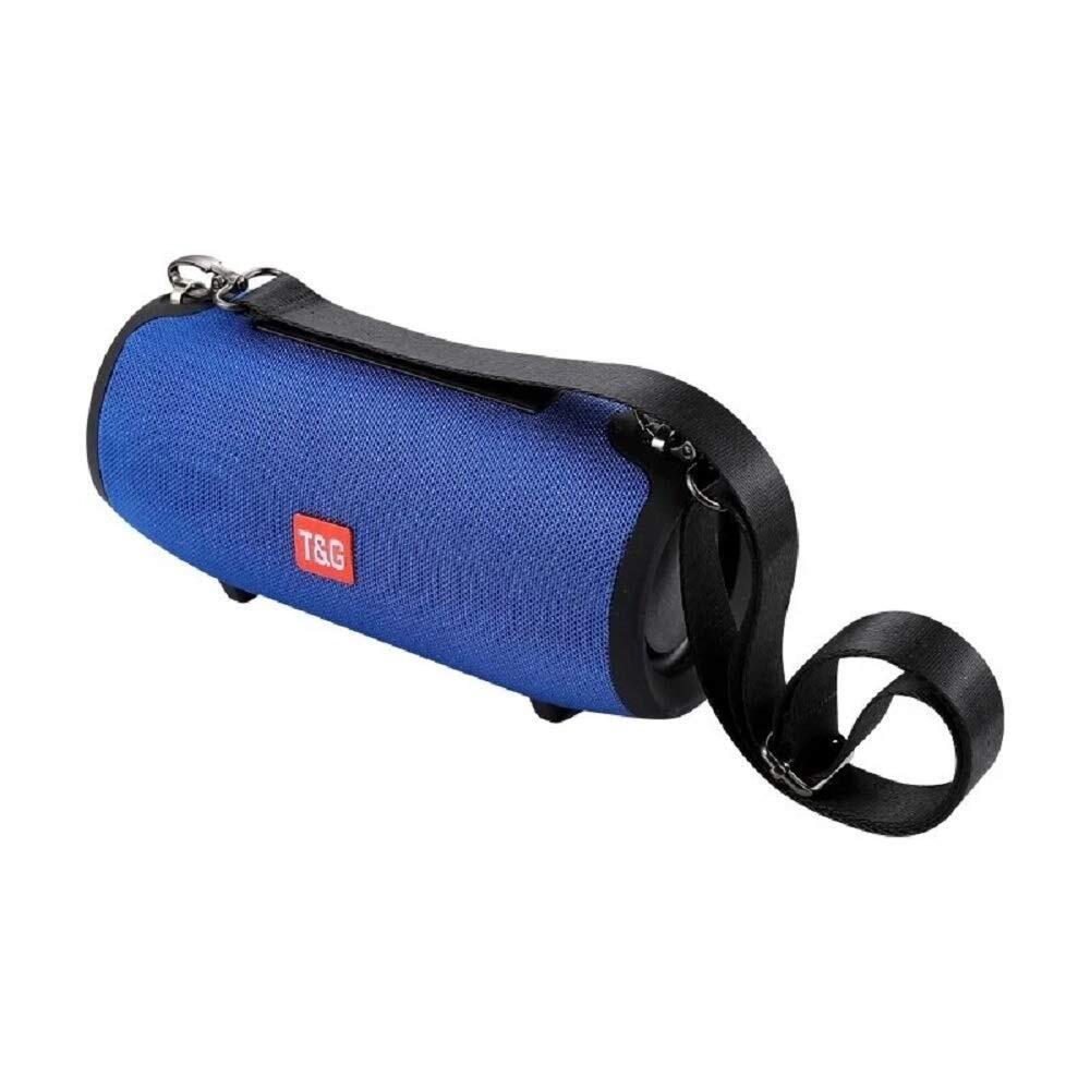 TG125 Wireless Bluetooth Speaker + AUX HiFi Bass Column IPX5 Blue