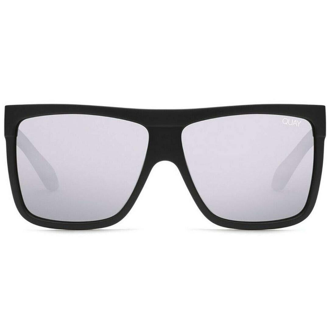 QUAY® BARNUN Polarized Silver Lens Black Frame