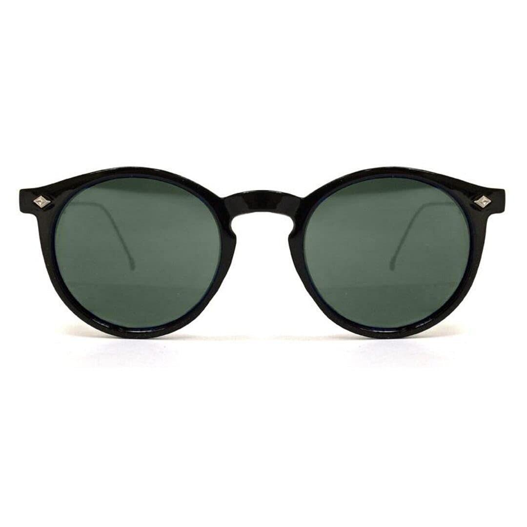 SPITFIRE® UK FLEX Designer Sunglasses | Black Frame Green Lens