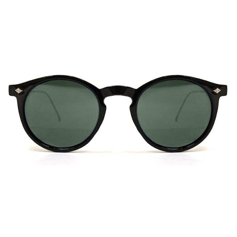 SPITFIRE® UK FLEX Designer Sunglasses   Black Frame Green Lens
