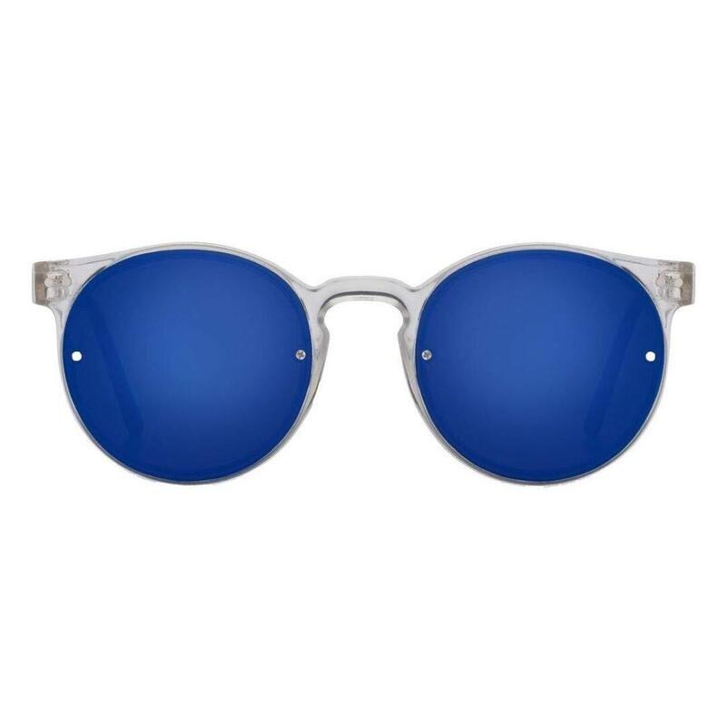 SPITFIRE® UK POST PUNK Designer Sunglasses   Clear Blue Mirror