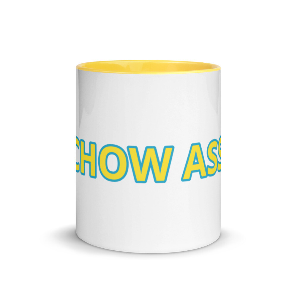 CHOW ASS Mug with Yellow Color Inside