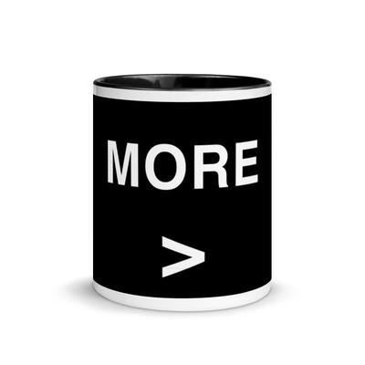 MORE Coffe Mug with Color Inside