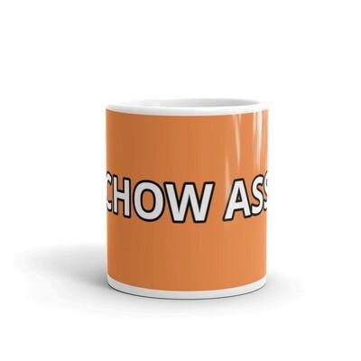 CHOW ASS Orange Glossy Mug