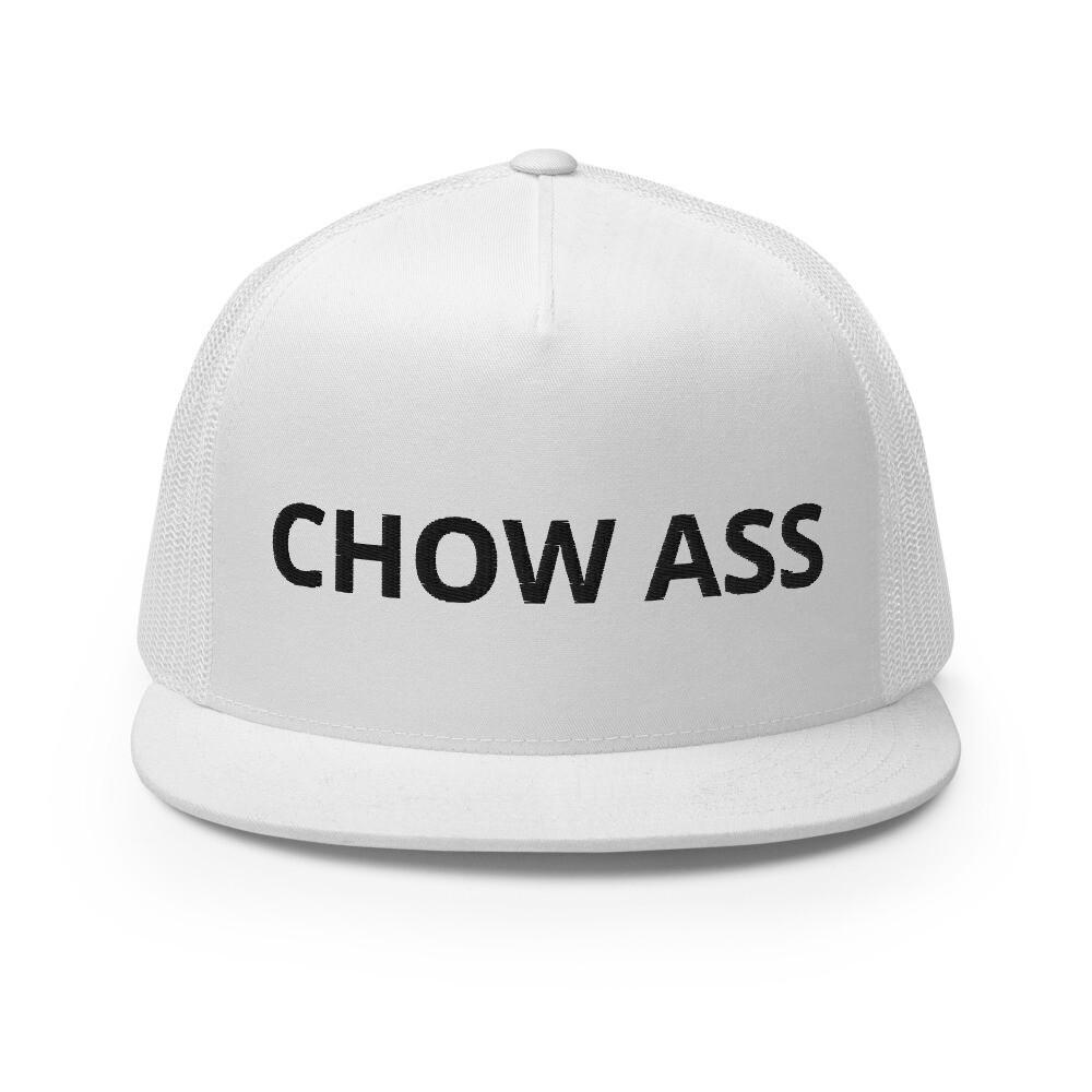 CHOW ASS Trucker Cap (White)